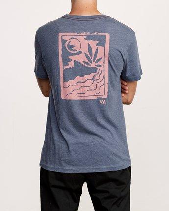 4 Mowgli Linocut T-Shirt Blue M420VRLI RVCA