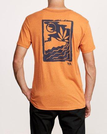 4 Mowgli Linocut T-Shirt Orange M420VRLI RVCA