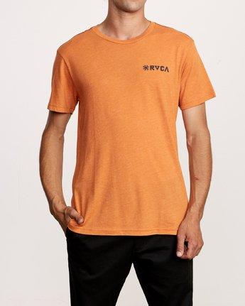 2 Mowgli Linocut T-Shirt Orange M420VRLI RVCA
