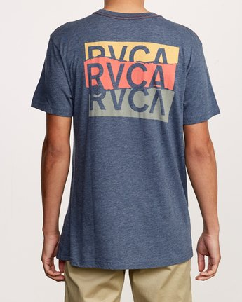 4 Overlap T-Shirt Blue M420VROV RVCA