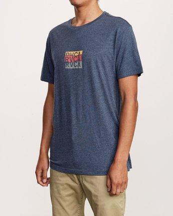 3 Overlap T-Shirt Blue M420VROV RVCA
