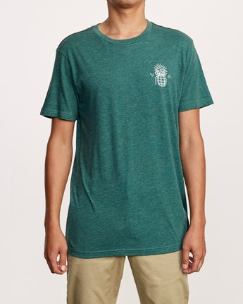 2 Pin Hawaii T-Shirt Green M420VRPI RVCA