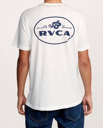 5 Serpent T-Shirt White M420VRSE RVCA