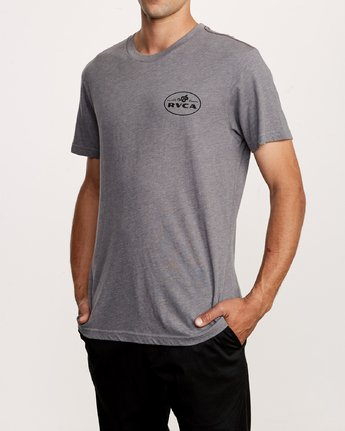 3 Serpent T-Shirt Grey M420VRSE RVCA