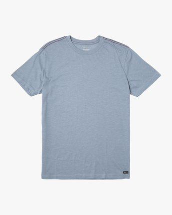 0 SOLO LABEL SHORT SLEEVE TEE Blue M420VRSO RVCA