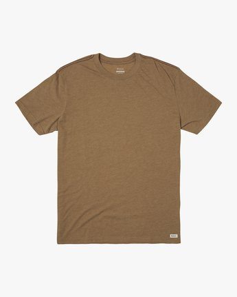 2 SOLO LABEL SHORT SLEEVE TEE Brown M420VRSO RVCA