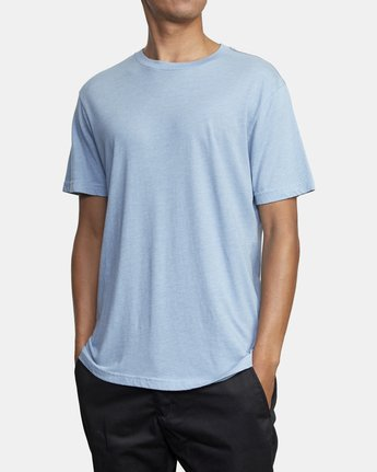 3 SOLO LABEL SHORT SLEEVE TEE Blue M420VRSO RVCA