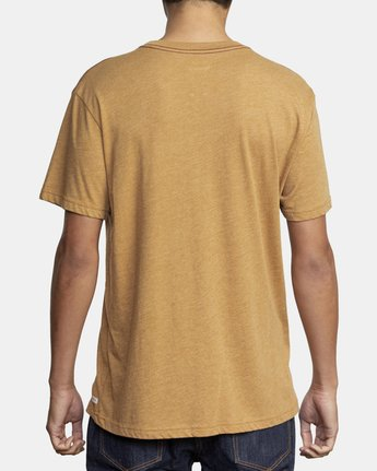 3 SOLO LABEL SHORT SLEEVE TEE Brown M420VRSO RVCA