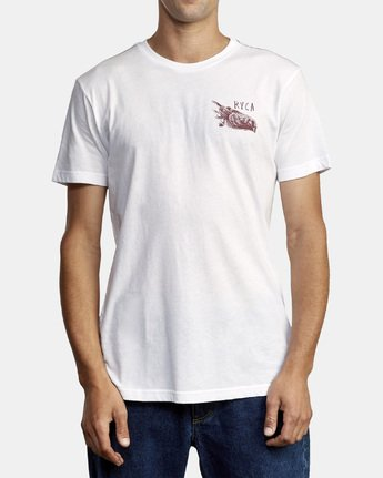 1 Ben Horton Here Lies T-Shirt White M420WRHE RVCA