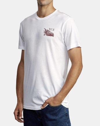 2 Ben Horton Here Lies T-Shirt White M420WRHE RVCA