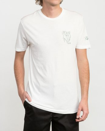 2 Big Leaf T-Shirt White M422PRIS RVCA