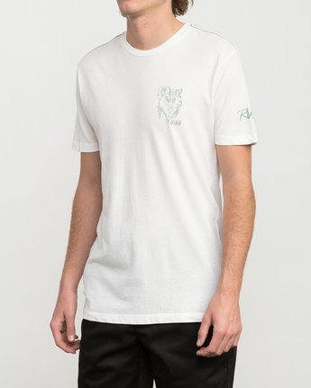 3 Big Leaf T-Shirt White M422PRIS RVCA