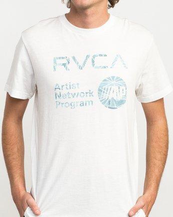 4 ANP Fill T-Shirt White M422QRAN RVCA
