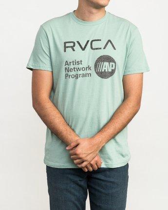 1 ANP Fill T-Shirt Green M422QRAN RVCA