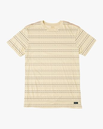 0 Feeder Striped T-Shirt Yellow M422QRFE RVCA
