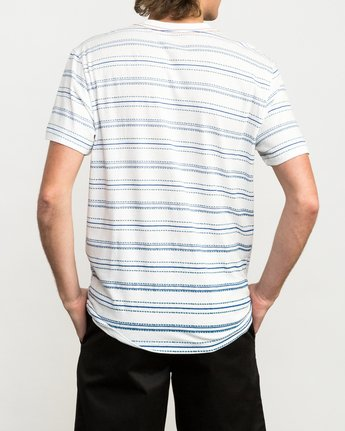 3 Feeder Striped T-Shirt White M422QRFE RVCA