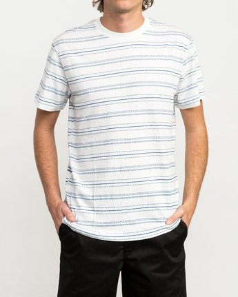 1 Feeder Striped T-Shirt White M422QRFE RVCA