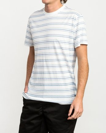 2 Feeder Striped T-Shirt White M422QRFE RVCA