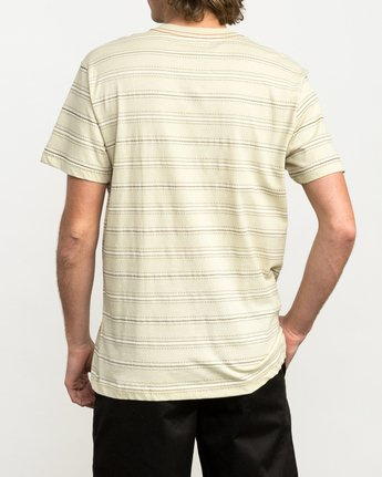 2 Feeder Striped T-Shirt Yellow M422QRFE RVCA