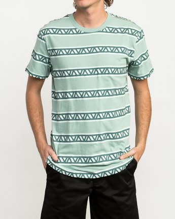 1 VA Repeater Striped T-Shirt Green M422QRVA RVCA