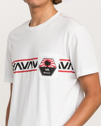 4 Bruce Irons Pocket T-Shirt White M424PRBR RVCA