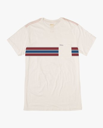 0 Day Stripe Pocket T-Shirt  M424QRDA RVCA