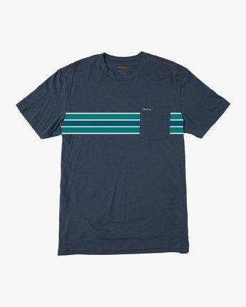 0 Day Stripe Pocket T-Shirt Blue M424QRDA RVCA