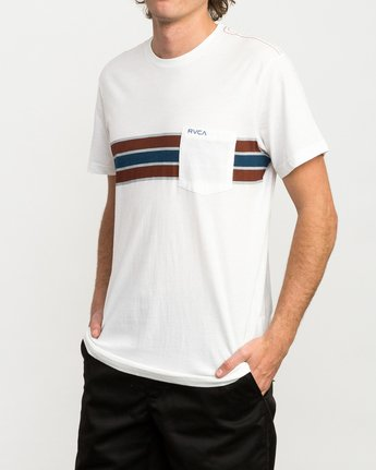 2 Day Stripe Pocket T-Shirt  M424QRDA RVCA