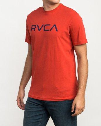 2 Big RVCA T-Shirt Red M426QRBI RVCA