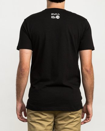 4 Blade Peace T-Shirt Black M426QRBL RVCA