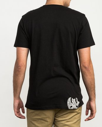 4 Grillo Bone T-Shirt Black M426QRGR RVCA