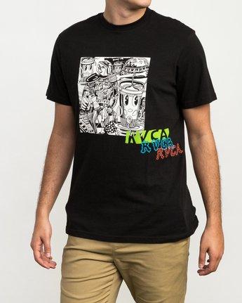 3 Grillo Bone T-Shirt Black M426QRGR RVCA