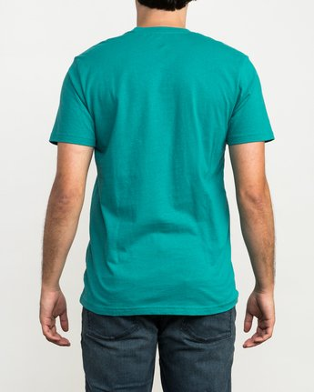 3 RVCA Reflection Box T-Shirt Green M426QRRE RVCA
