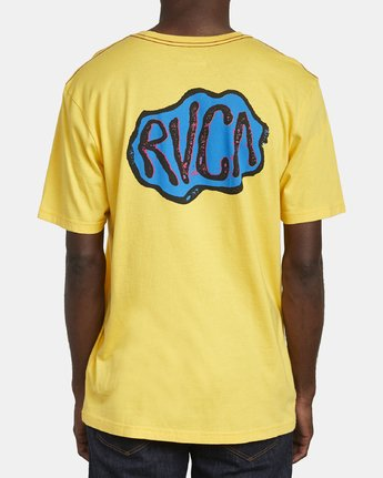 6 CORNER T-SHIRT Yellow M4301RCO RVCA