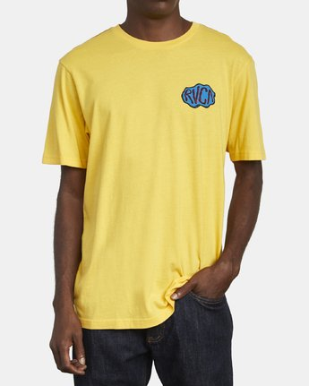 3 CORNER T-SHIRT Yellow M4301RCO RVCA