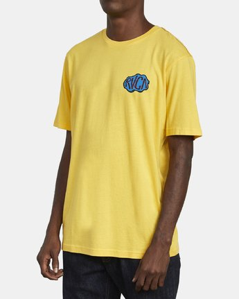 4 CORNER T-SHIRT Yellow M4301RCO RVCA