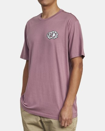 4 CORNER T-SHIRT Purple M4301RCO RVCA