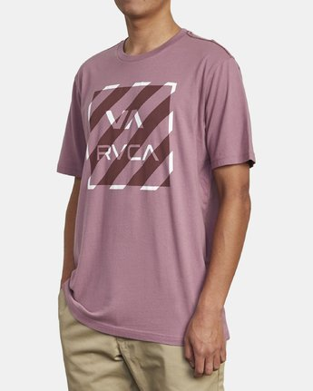 3 HAZARD BOX T-SHIRT Purple M4301RHA RVCA