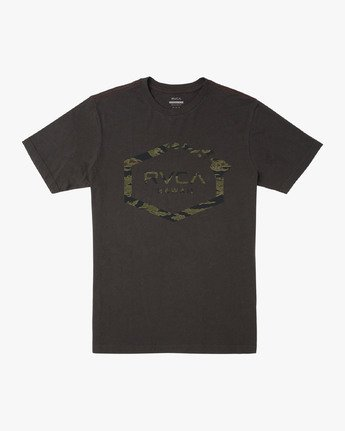 0 ISLAND HEX FILL - TIGER CAM T-SHIRT Black M4301RIH RVCA