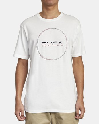 1 SPLITTER SEAL T-SHIRT White M4301RSP RVCA