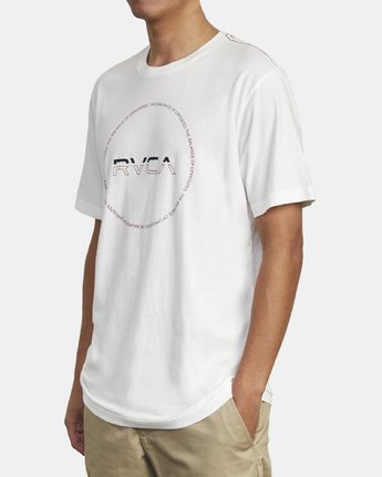 3 SPLITTER SEAL T-SHIRT White M4301RSP RVCA