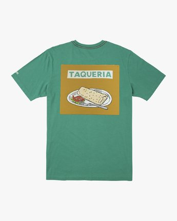 1 TAQUERIA T-SHIRT Green M4301RTA RVCA