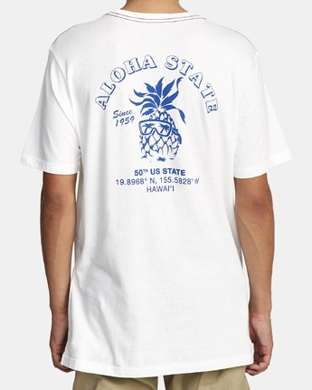 2 ALOHA SHOP SHORT SLEEVE T-SHIRT White M4302RAL RVCA