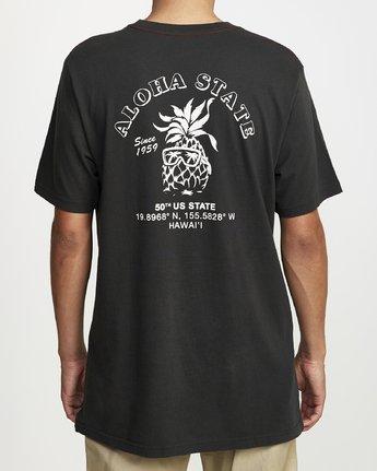 2 ALOHA SHOP SHORT SLEEVE T-SHIRT Black M4302RAL RVCA