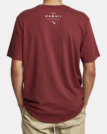 2 DA AINA FILL SHORT SLEEVE TEE Red M4302RDI RVCA
