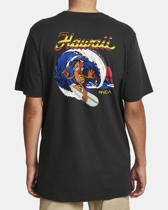 2 HOT DOG HAWAII SHORT SLEEVE T-SHIRT Black M4302RHO RVCA