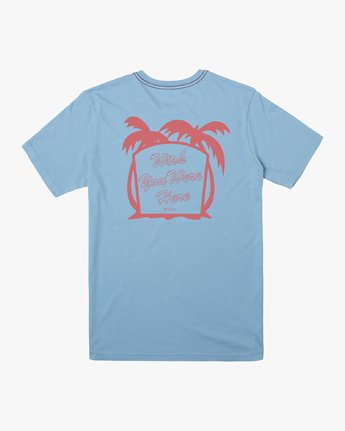 1 WERE HERE SHORT SLEEVE TEE Blue M4302RWE RVCA