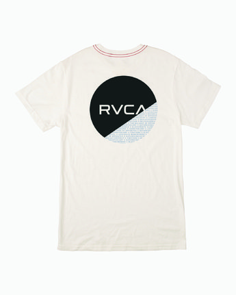 1 FRACTION SHORT SLEEVE TEE White M4303RFR RVCA