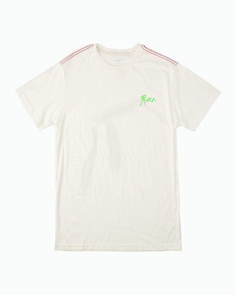 1 THE GORGEOUS HUSSY SHORT SLEEVE TEE White M4303RGH RVCA