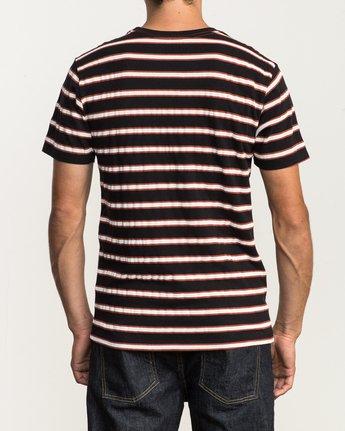 3 Brong Stripe T-Shirt Black M430SRBR RVCA